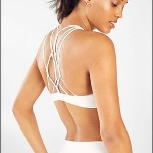 NWT Fabletics Strappy White Sports Bra
